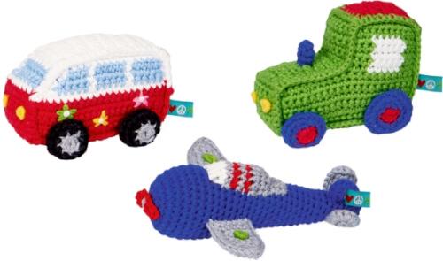 Minirassel (Bulli, Flugzeug, Traktor) BabyGlück, sortiert nicht frei wählbar