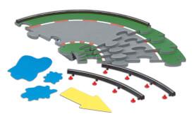 SIKU 6851 Racing Fahrbahn Set (Kurve)