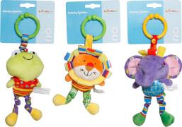 SpielMaus Baby Activity Spieltier Kinderwagen, 3-fach sortiert