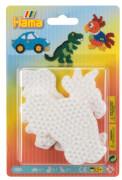 HAMA Bügelperlen Blister 3 Stiftplatten Auto/Dinosaurier/Papagei