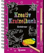 Loewe Kreativ-Kratzelbuch Einhörner