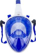 Full Face Schnorchel-Maske, blau-weiß
