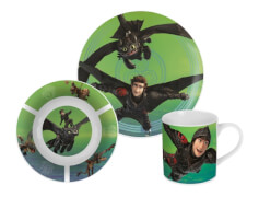 p:os Dragons 3teilig Keramikset